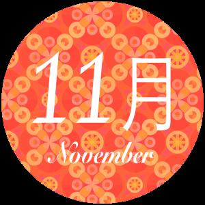 11月の開催日程